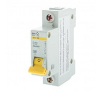 Выключатель автоматический IEK Home В А47-29 1 полюс 20 А