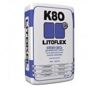 Плиточный клей ЛИТОКОЛ К80 Литофлекс, 25кг.